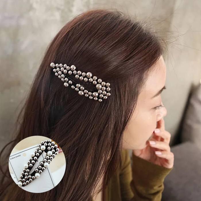 Jepitan & Sirkam 2019ins new Korean simple geometry matte big pearl hairpin M4Y143