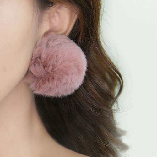 Anting Sweet PomPom earrings NOV049