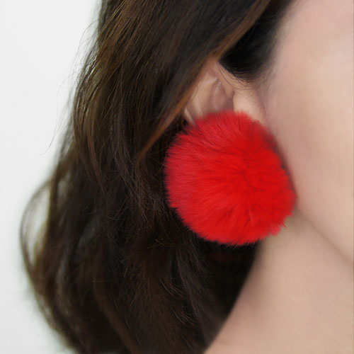 Anting Sweet PomPom earrings NOV051