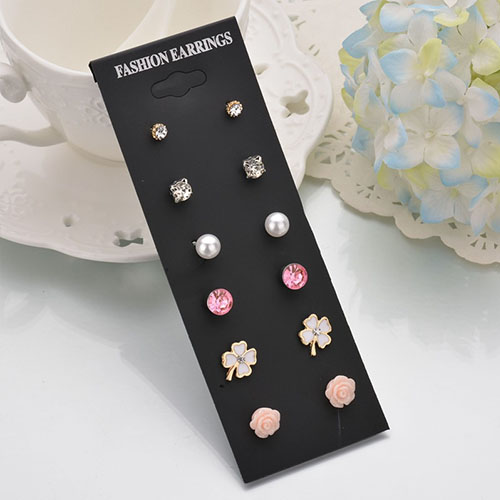 Anting Minimalist earrings 6 pairs NOV063