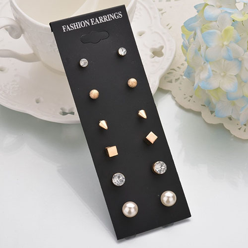 Anting Minimalist earrings 6 pairs NOV066