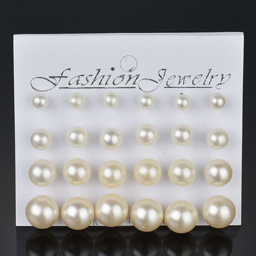 Anting Minimalist pearl earrings 12 pairs NOV071