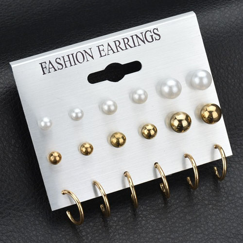 Anting Pearl earrings9 pairs NOV076