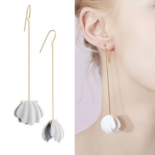Anting Pearl shell wild fashion long earrings OKT066