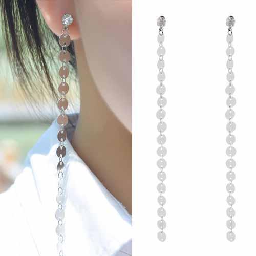 Anting Copper sequins tassel earrings OKT081