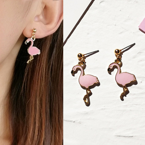 Anting Flamingo shape earrings OKT146