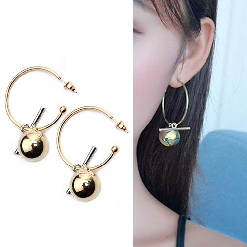 Anting Hollow large ring earrings OKT213