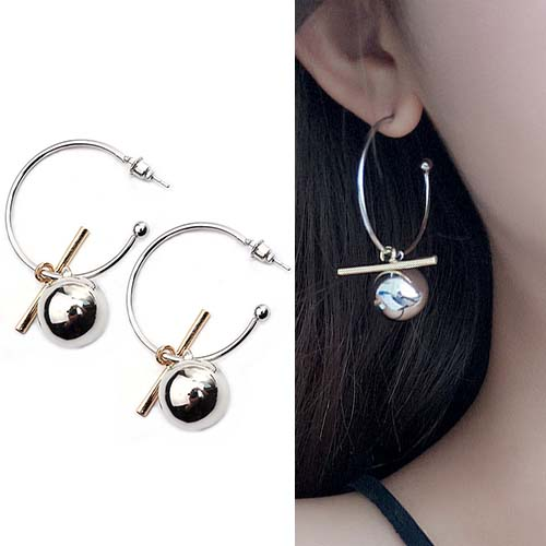 Anting Hollow large ring earrings OKT214