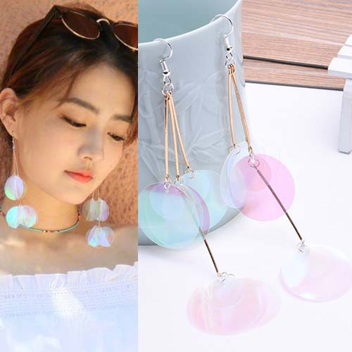 Anting Bright sequins tassel earrings OKT217