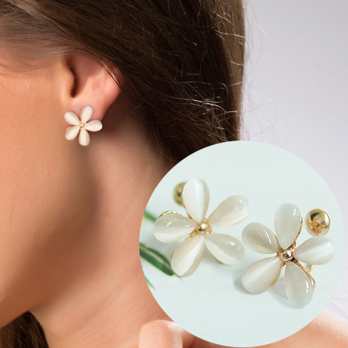 Flower shape ear clip no needle OKT302