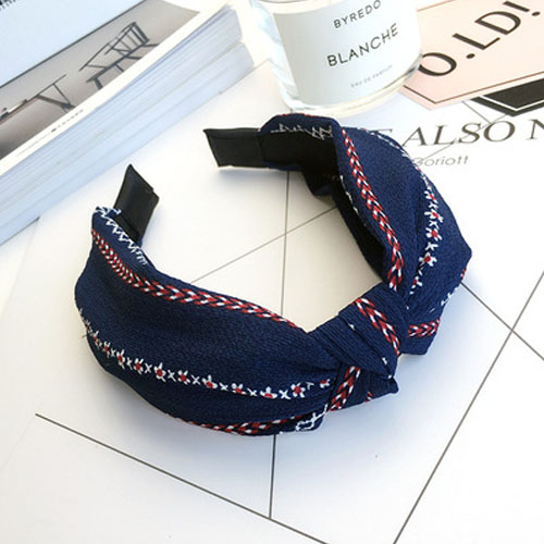 Bando & Ikat Rambut knot fabric wide edge hair band OKT420
