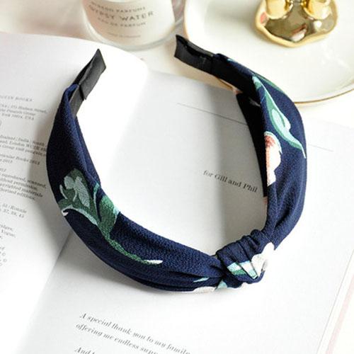 Bando & Ikat Rambut knot fabric wide edge hair band OKT424