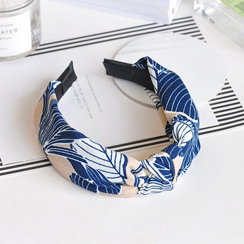 Bando & Ikat Rambut knot fabric wide edge hair band OKT426