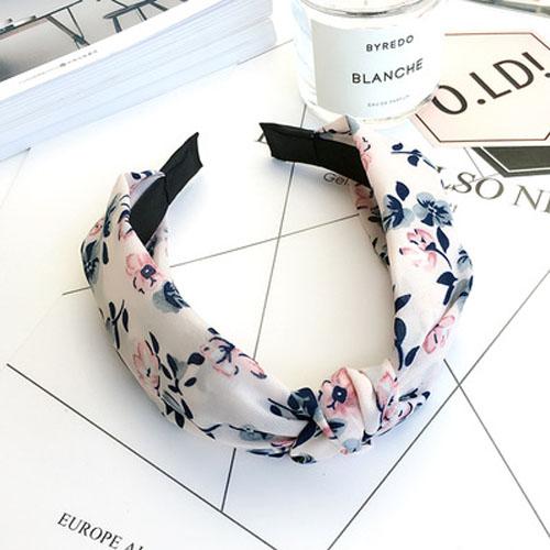 Bando & Ikat Rambut knot fabric wide edge hair band OKT430