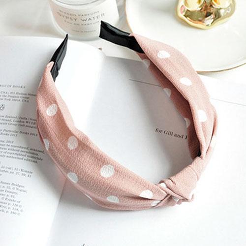 Bando & Ikat Rambut knot fabric wide edge hair band OKT431