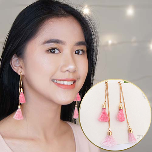 Double Tassel Chain earrings  OKT616