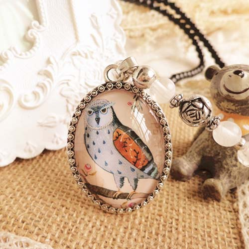 Kalung Fashion retro exaggerated long necklace S3P049