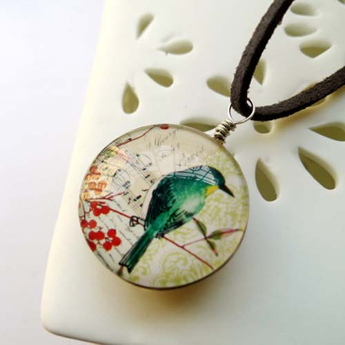 Kalung Fashion Birds Floral Melody Gemstone necklaces S3P071