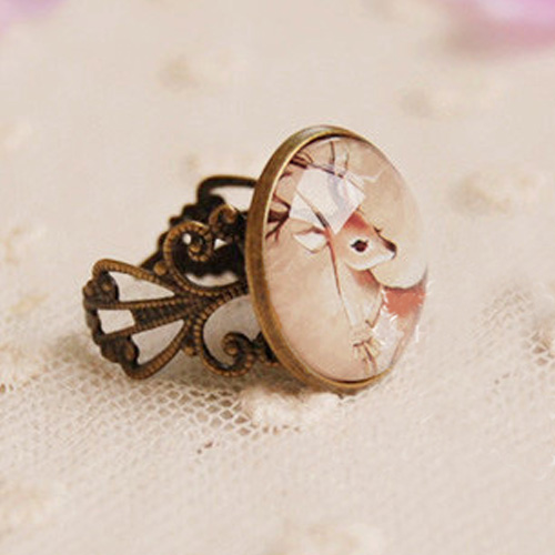 18mm time gem ornament ring S3P086