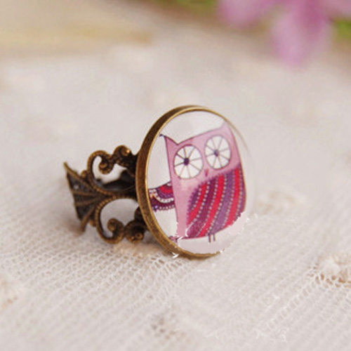 18mm time gem ornament ring S3P088