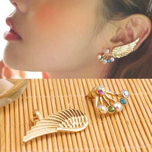 Angel wings earring ear clip  S3P091