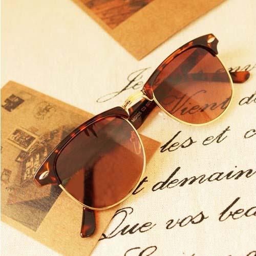 Metal half-frame sunglasses S3P094