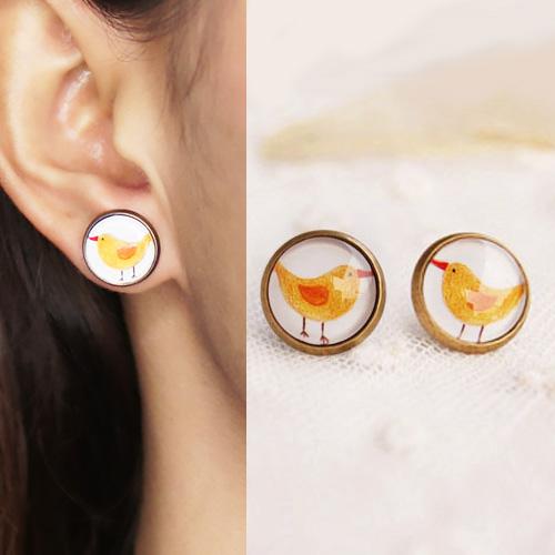Chick cartoon earrings S3P101