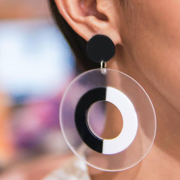 Cincin transparent aperture earrings bridal luxury AP2048