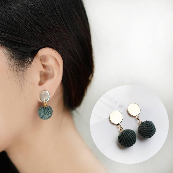 Anting Wool Ball Earrings Earrings AP2168
