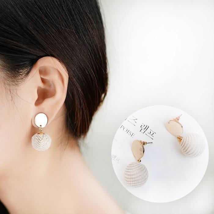 Anting Wool Ball Earrings Earrings AP2171