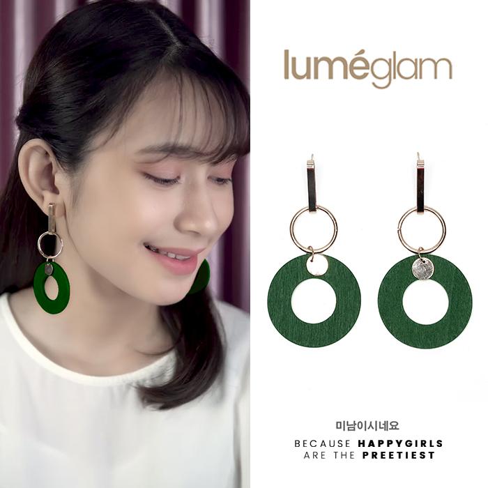 wood pearl tassel earrings AP2283