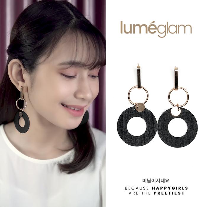 wood pearl tassel earrings AP2284