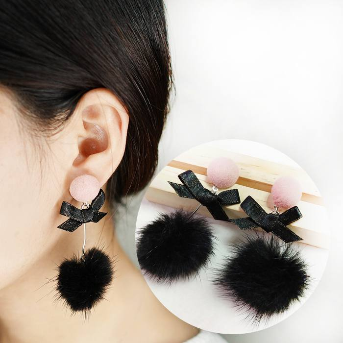Anting Plush Mane Bow Earrings AP2339