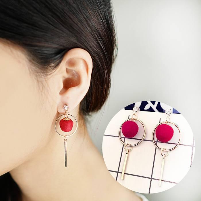 Anting Long Earrings Hipster Ball AP2380