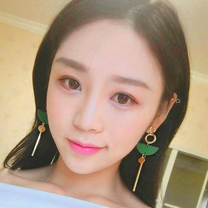 wood exaggerated temperament long tassel earrings AP5023
