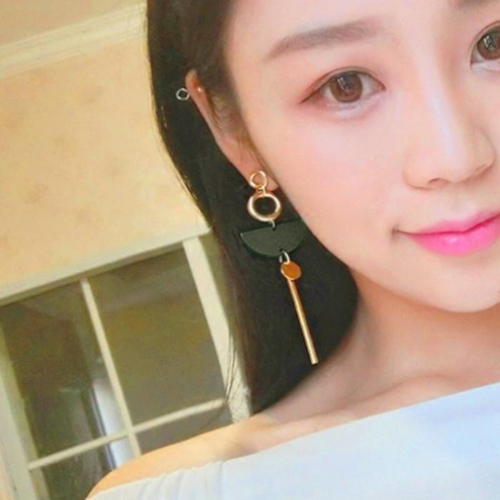 wood exaggerated temperament long tassel earrings AP5025