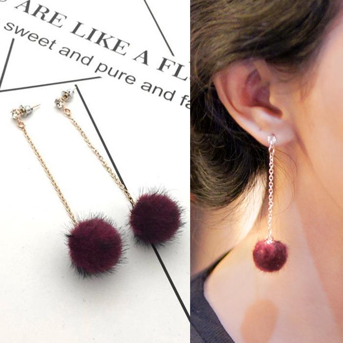 Anting beautiful burst of PomPom earrings AP2471