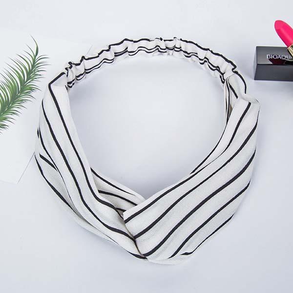 minimalist fabric pattern headband AP3017