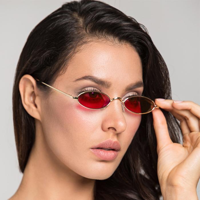 Kacamata Minimalist oval Sunglasses AP3092