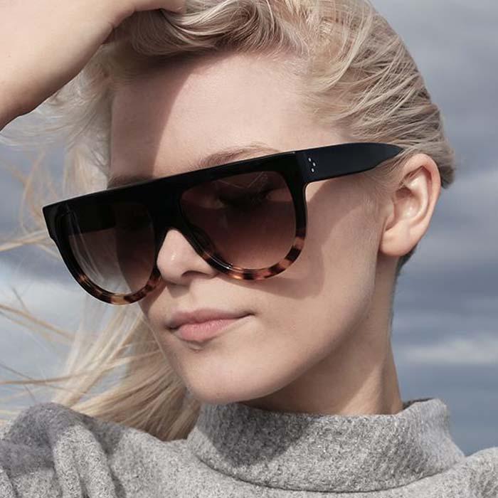 Kacamata Retro big frame leopard sunglasses AP3110