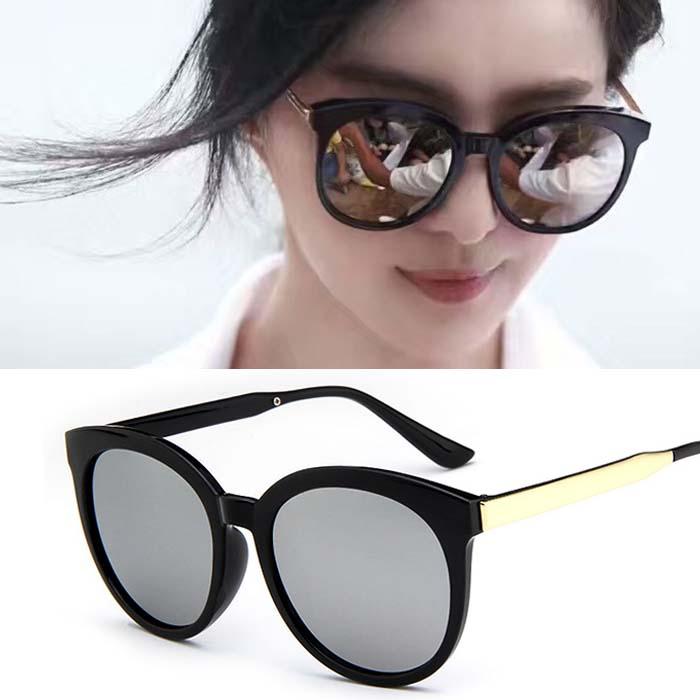 Retro big frame reflective sunglasses AP3156