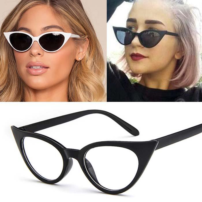 Retro cat eye small frame sunglasses AP3159