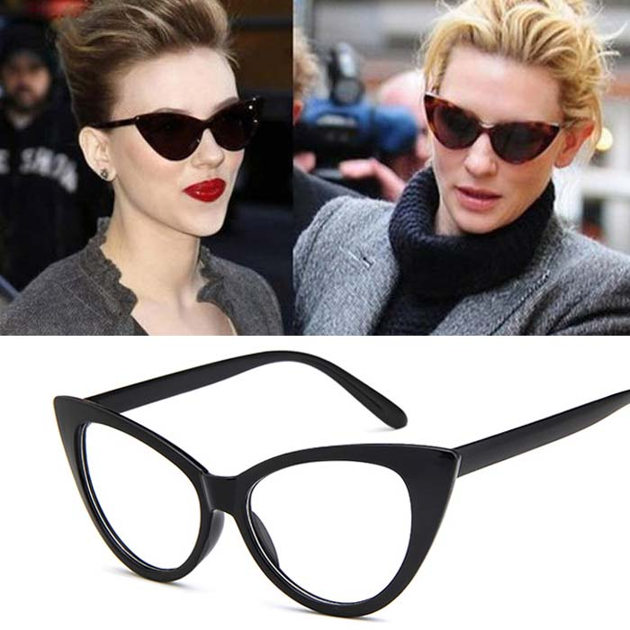 Retro cat eye big frame sunglasses AP3162