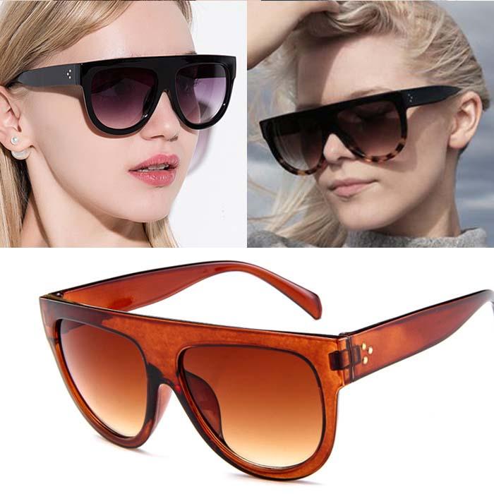 Retro big frame leopard sunglasses AP3165