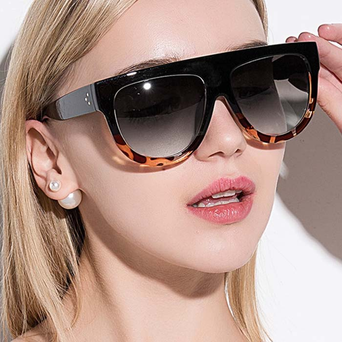 Kacamata Retro big frame leopard sunglasses AP3166