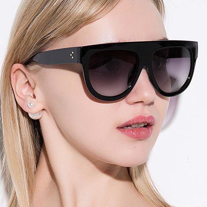 Kacamata Retro big frame leopard sunglasses AP3168