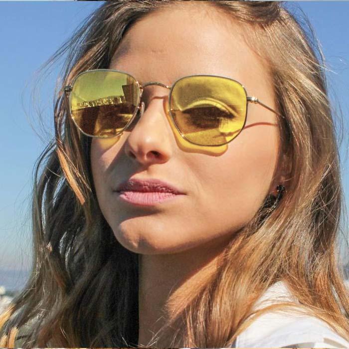 Kacamata Retro hexagonal sunglasses AP3172