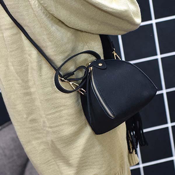 Frosted triangle bag shoulder mini bag AP3192