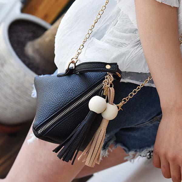 Triangle Lantern Bag Chain Tassel AP3201