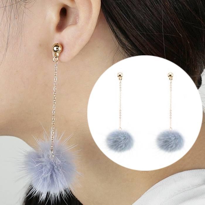 Anting Small Style Wind Earrings Fringe Wild Earrings Fur AP3492